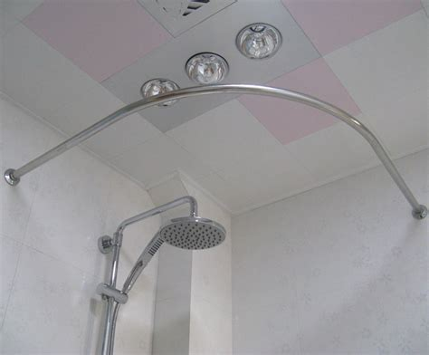 bendable shower curtain rod curved arch custom corner