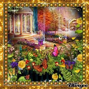 Garten Blumen Bilder : der wundersch ne garten mit pavillion und wundersch ne blumen umrahmen den garten ein wahres ~ Whattoseeinmadrid.com Haus und Dekorationen