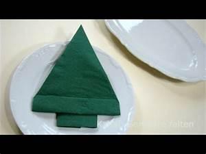 Youtube Servietten Falten : servietten falten weihnachten tannenbaum als tischdeko youtube ~ Frokenaadalensverden.com Haus und Dekorationen