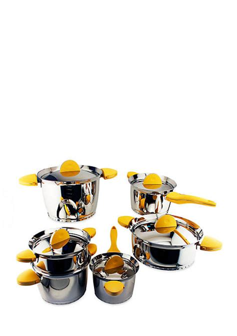 biltmore belly shaped stainless  piece cookware set belk