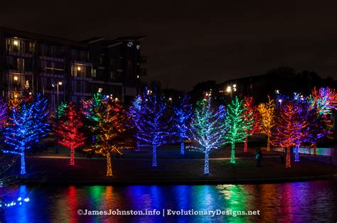 the christmas lights at vitruvian park in addison texas