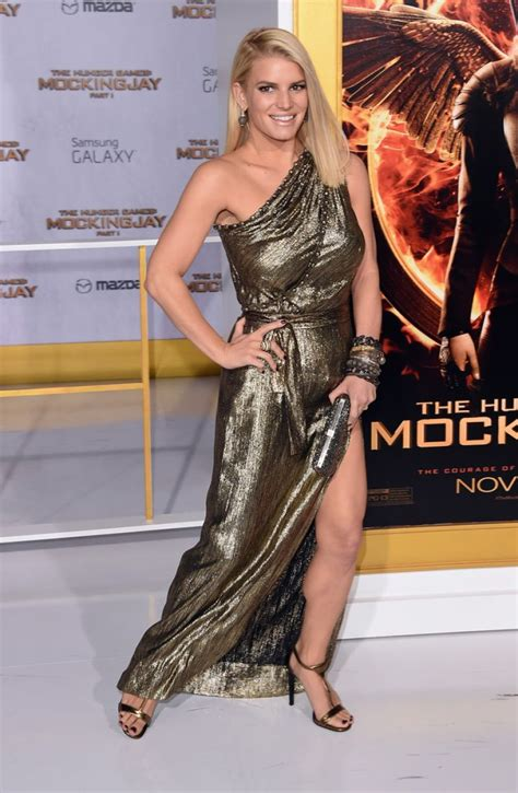 Jessica Simpson At The Hunger Games Mockingjay Part 1