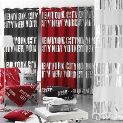rideau york chambre bonareva rideau oeillets 140 x 260 cm argent