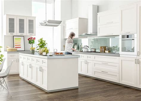 fashion white transitional kitchen cabinets door