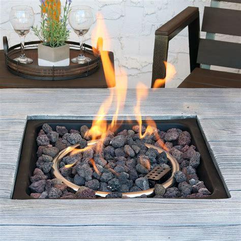 sunnydaze outdoor   square propane gas fire pit