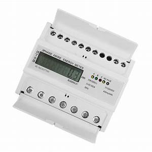 3 Phase 4 Wire Energy Meter Lcd Display Rail Volt Amp
