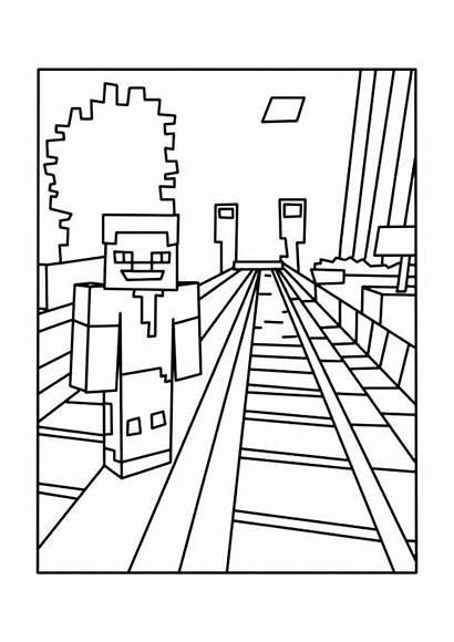 Minecraft Herobrine Coloring Pages Printable Getcolorings