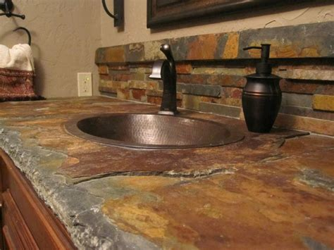 Types Bathroom Countertop Materials by Best 25 Slate Countertop Ideas On Pinterest
