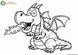 Dragon Coloring Draak Colorear Kleurplaat Cartoon Colorare Tekening Fire Dragones Een Disegni Vector Drago Draken Draghi Voor Outline Colouring Fuoco sketch template