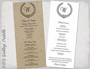 wedding program template rustic black quotleaf garland With wedding ceremony program template