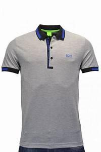 hugo green paule 4 polo shirt grey clothing from