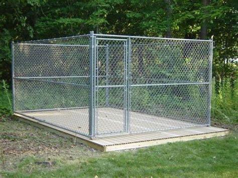 outdoor kennel building a platform