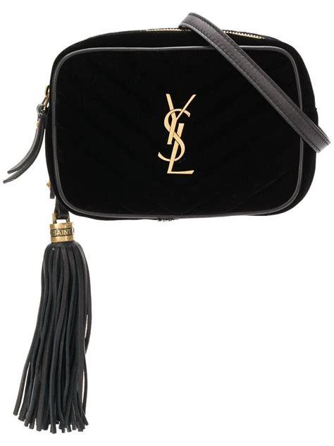 saint laurent camera ysl quilted logo gold monogram hip
