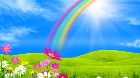 rainbow sunshine wallpapers  wallpapersafari
