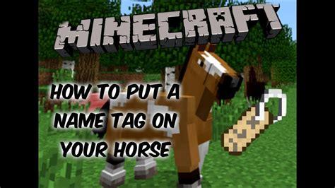 minecraft put horse nametag
