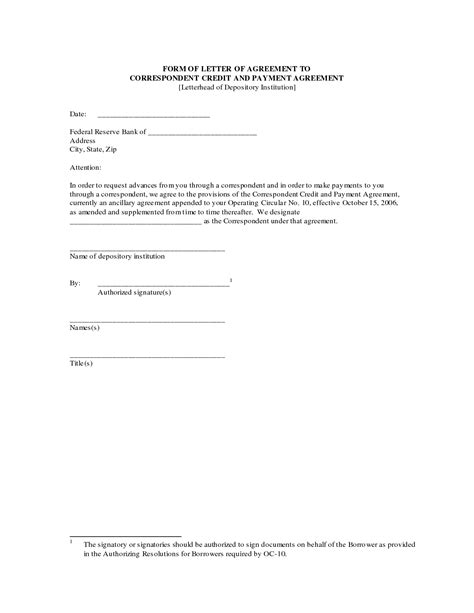 agreement letter  printable documents