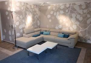Moderne Wohnzimmer Wandgestaltung : wohnidee f r ein modernes wohnzimmer ~ Michelbontemps.com Haus und Dekorationen