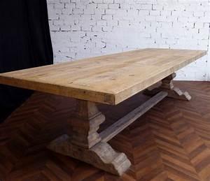 Table Bois Massif Brut : grande et belle table de ferme monast re en bois brut naturel de 330 cm de long ~ Teatrodelosmanantiales.com Idées de Décoration