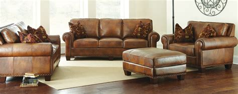 Rustic Leather Loveseat by Leather Sofa Set Rustic Leather Set Sofa Leather Set
