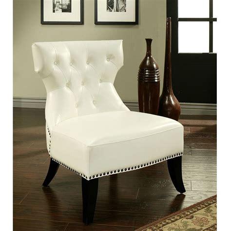 vista white leather club chair interiors