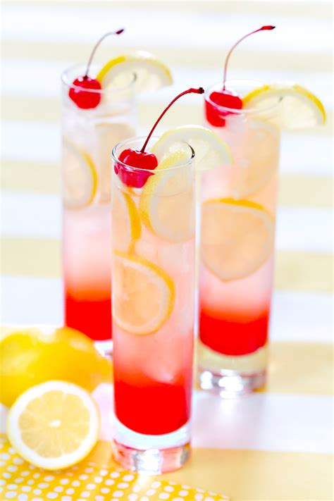 cherry lemonade drink summer drink pizzazzerie