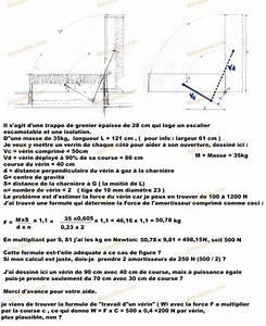 Bricolage travaux de menuiserie estimation puissance vérin à gaz pour trappe coffre de grenier