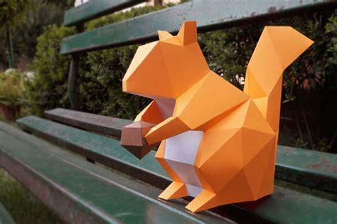 diy papercraftspaper squirrelsquirrel   paperamaze