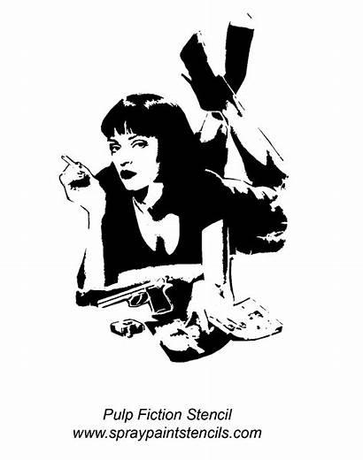 Pulp Fiction Stencils Stencil Uma Thurman Tattoo