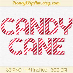 candy cane clipart printable candy cane letters christmas With candy cane alphabet letters