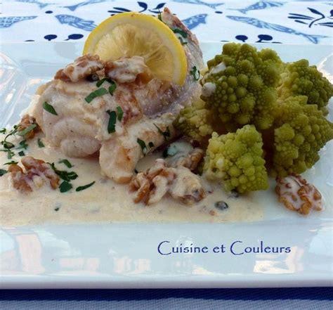 Mets Cuisiné Filet De Lotte Sauce Au Roquefort Et Aux Noix Accord