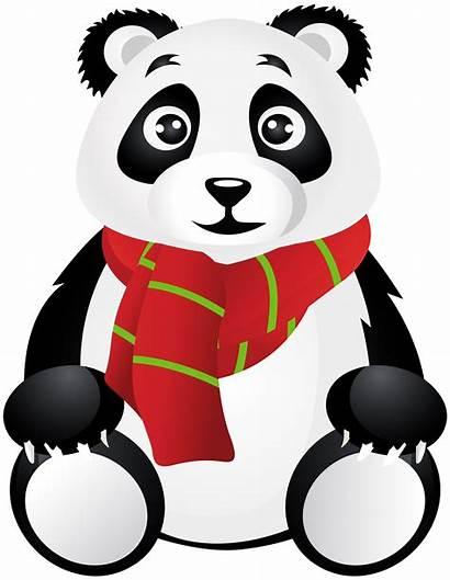 Panda Transparent Scarf Clip Cartoon Clipart Yopriceville