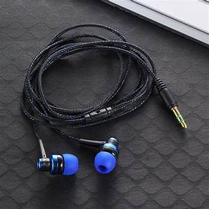 5 Colors 3 5 Mm Stereo Plug Headphone Braided Wire