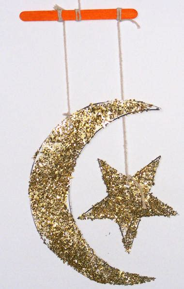 star  crescent moon mobile