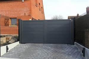 Portail Coulissant Motorisé 4m : rambouillet portail aluminium sur mesure europortail ~ Dailycaller-alerts.com Idées de Décoration