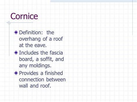 cornice definition chapter 13 exterior wall finish cornice definition the