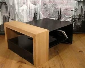 Table Salon Metal : table basse bois et m tal table basse design ~ Teatrodelosmanantiales.com Idées de Décoration