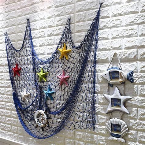 Bet you haven't considered this wall decor idea: Nautical Seaside Beach Decorative Sea Ocean Theme Fish Net ...