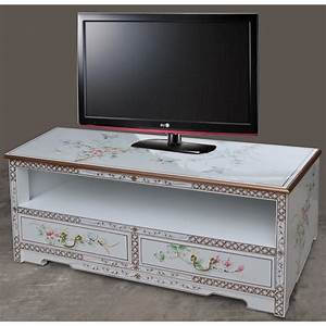Meuble Laqué Blanc : meuble tv chinois laqu blanc magasin du meuble ~ Melissatoandfro.com Idées de Décoration