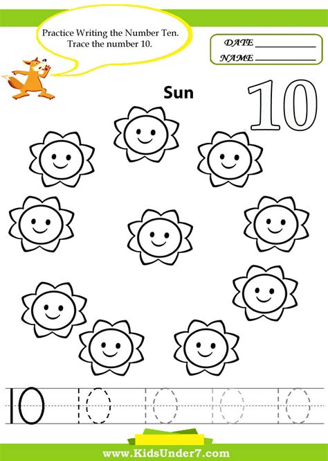 Kids Under 7 Number Tracing 110  Worksheet Part 1  ΑΡΙΘΜΟΙ  Pinterest  Number Tracing
