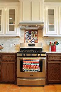 25 best ideas about mexican tile kitchen on pinterest With kitchen cabinets lowes with mexican tile wall art
