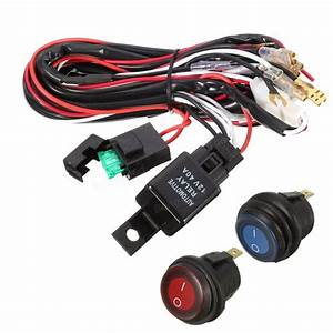 40a 12v Led Light Bar Wiring Harness Relay On  Off Switch