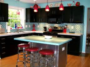 custom kitchen islands that look like furniture 50s retro kitchens