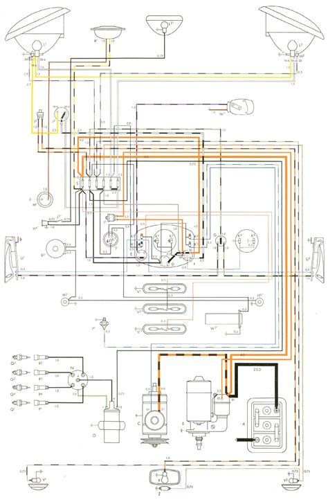 1965 Vw Starter Wiring Diagram by 1954 To 1955