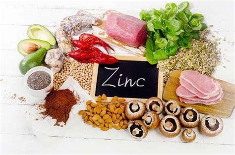zinco proprieta sintomi carenza fonti  dose