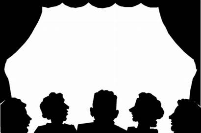 Silhouette Clipart Audience Theater Theatre Stage Transparent