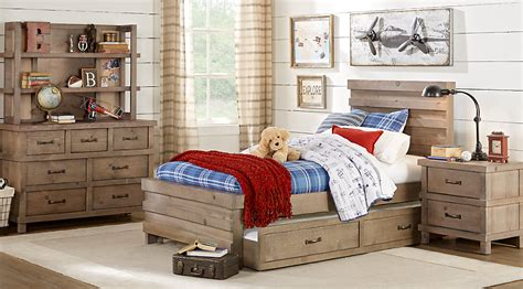 Montana Driftwood 5 Pc Full Panel Bedroom