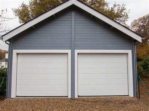 Double Garage : Double Garage En Bois Pour 2 Voitures Avec Mezzanine De