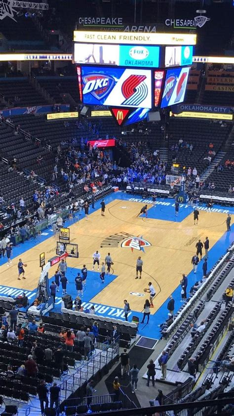 fotos von oklahoma city thunder im chesapeake energy arena