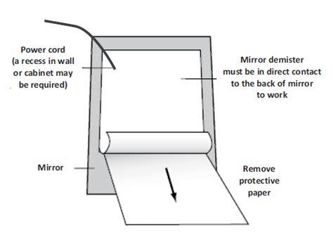 Mirror Demister Large 1200mm X 600mm