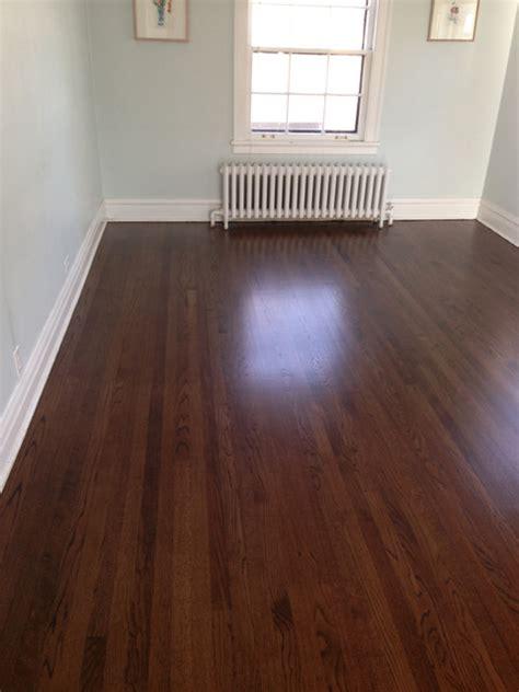 staining hardwood floors darker oak wood floors with walnut stain
